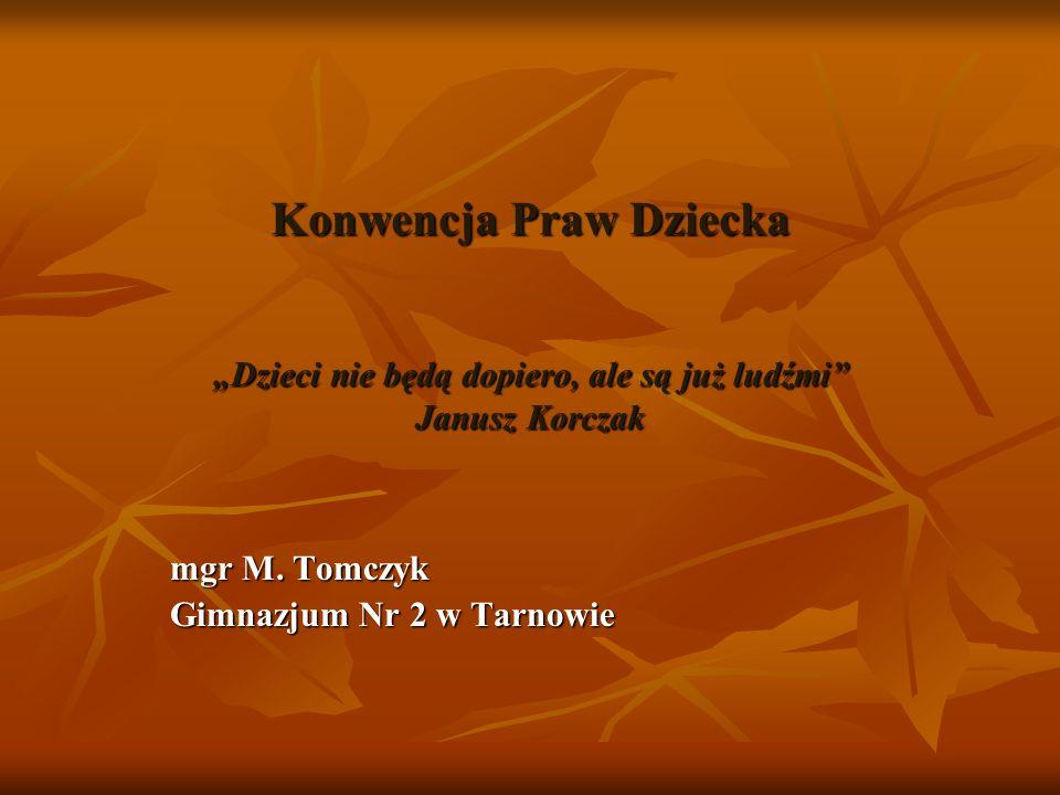 mgr M. Tomczyk Gimnazjum Nr 2 w Tarnowie
