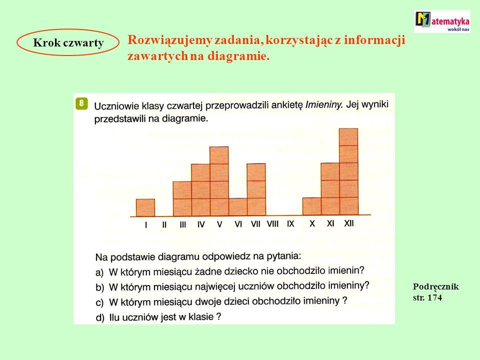 Rozwiązujemy zadania, korzystając z informacji zawartych na diagramie.