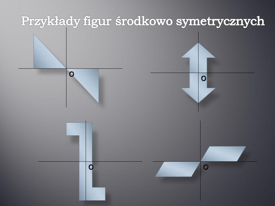 Przykłady figur środkowo symetrycznych