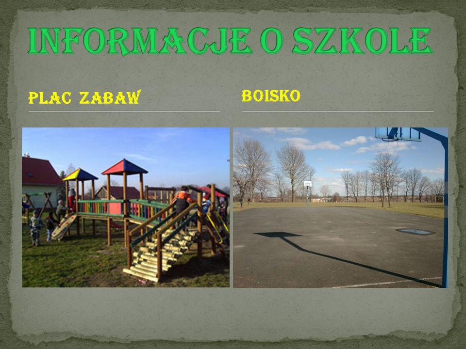 Informacje o szkole Plac zabaw boisko