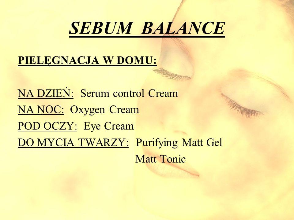 SEBUM BALANCE PIELĘGNACJA W DOMU: NA DZIEŃ: Serum control Cream