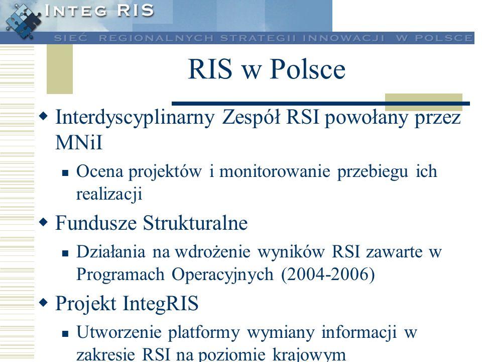 RIS w Polsce Interdyscyplinarny Zespół RSI powołany przez MNiI