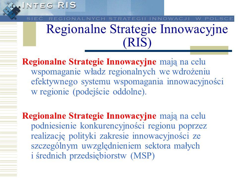 Regionalne Strategie Innowacyjne (RIS)