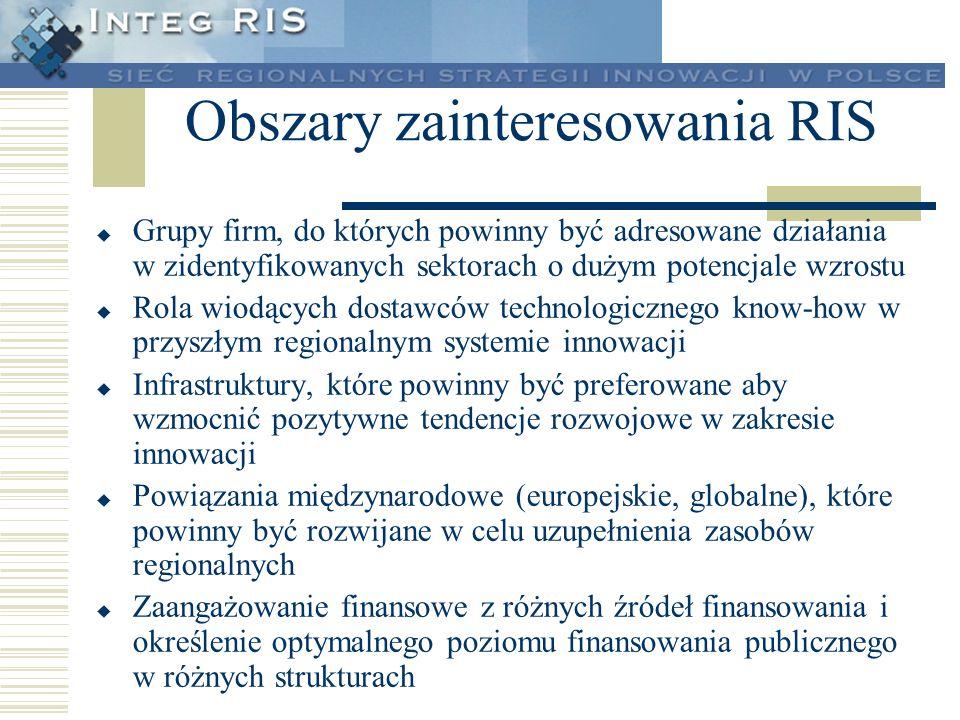 Obszary zainteresowania RIS