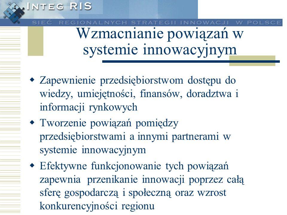 Wzmacnianie powiązań w systemie innowacyjnym