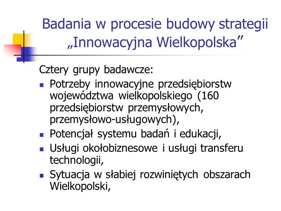 """Badania w procesie budowy strategii """"Innowacyjna Wielkopolska"""