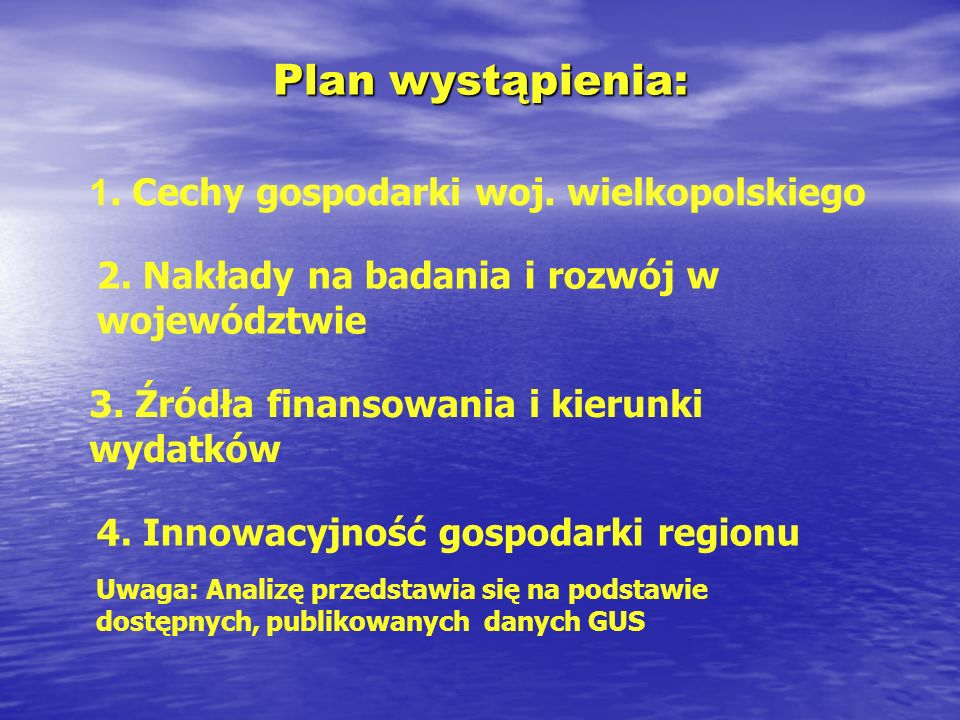 1. Cechy gospodarki woj. wielkopolskiego
