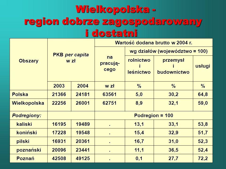 Wielkopolska - region dobrze zagospodarowany i dostatni