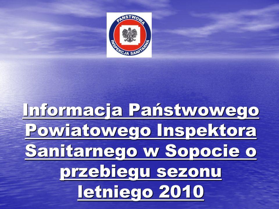 Informacja Państwowego Powiatowego Inspektora Sanitarnego w Sopocie o przebiegu sezonu letniego 2010