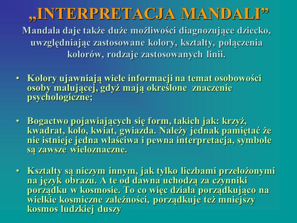 """""""INTERPRETACJA MANDALI"""