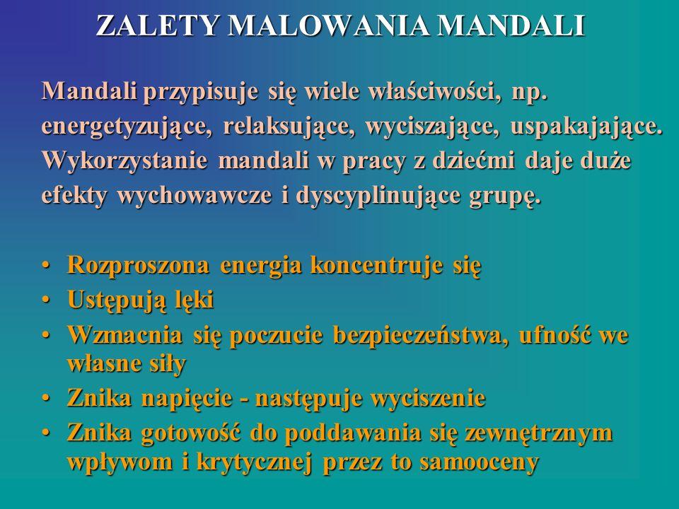 ZALETY MALOWANIA MANDALI
