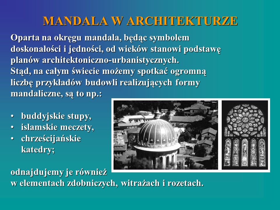 MANDALA W ARCHITEKTURZE