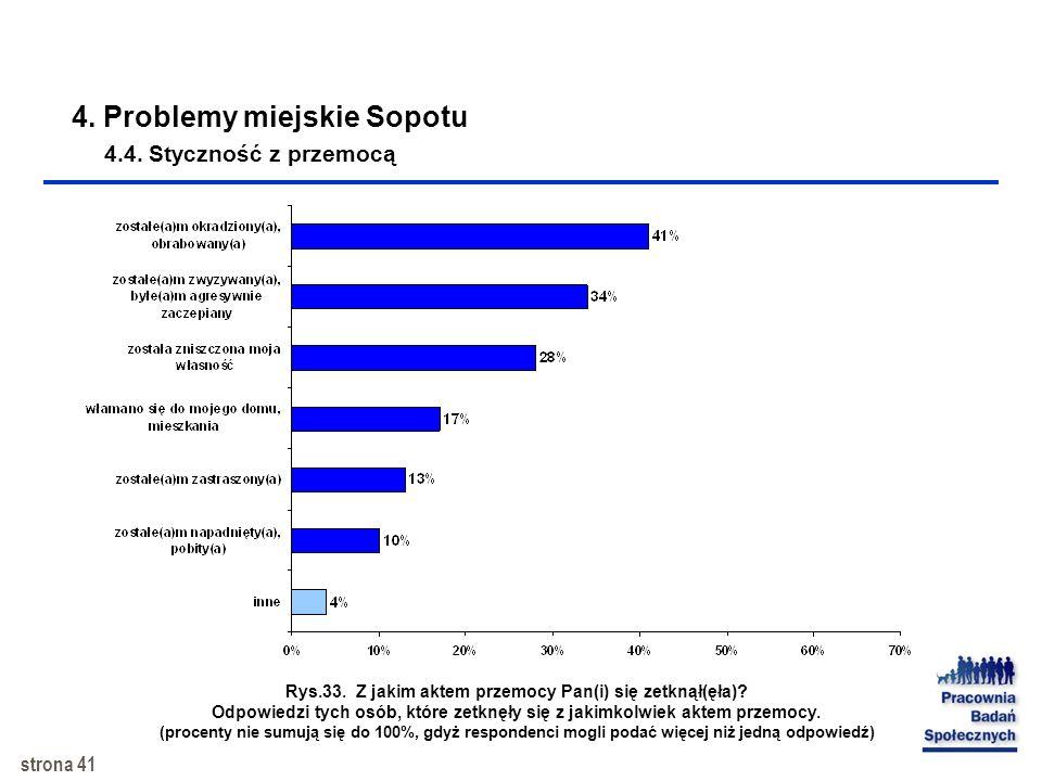 4. Problemy miejskie Sopotu 4.4. Styczność z przemocą