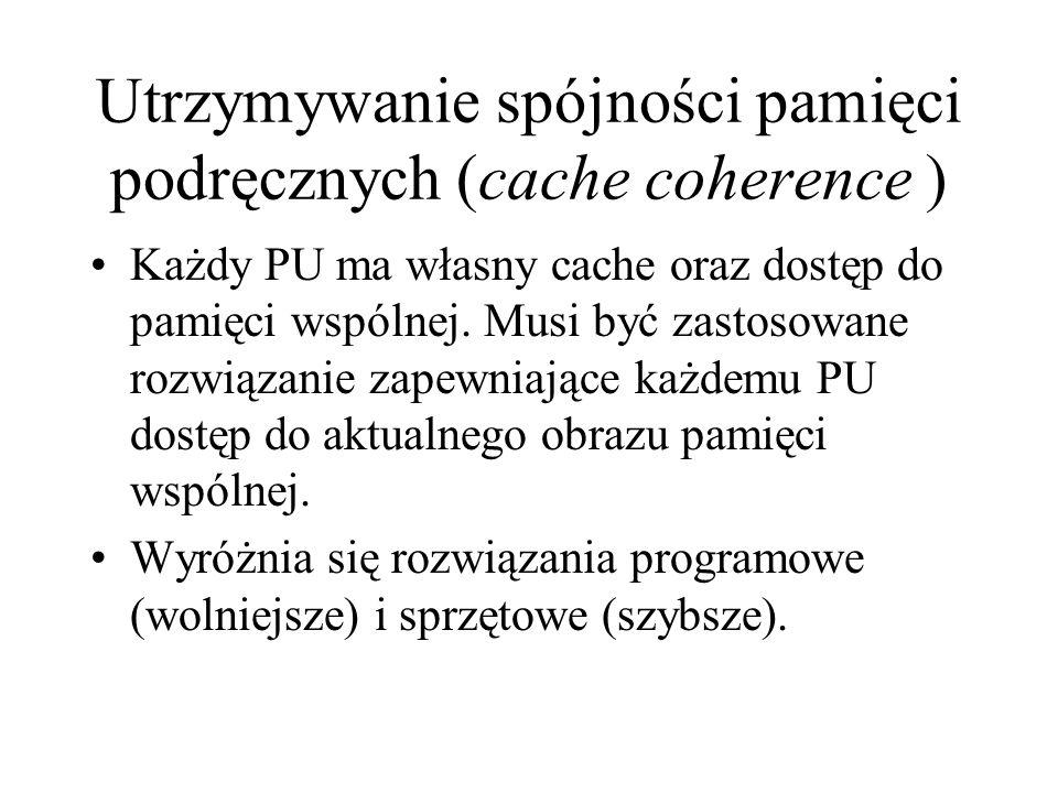 Utrzymywanie spójności pamięci podręcznych (cache coherence )