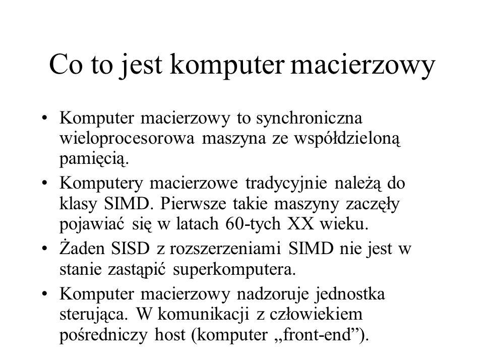 Co to jest komputer macierzowy