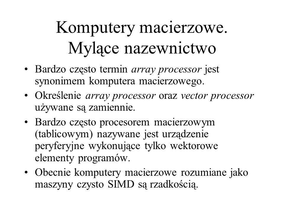 Komputery macierzowe. Mylące nazewnictwo