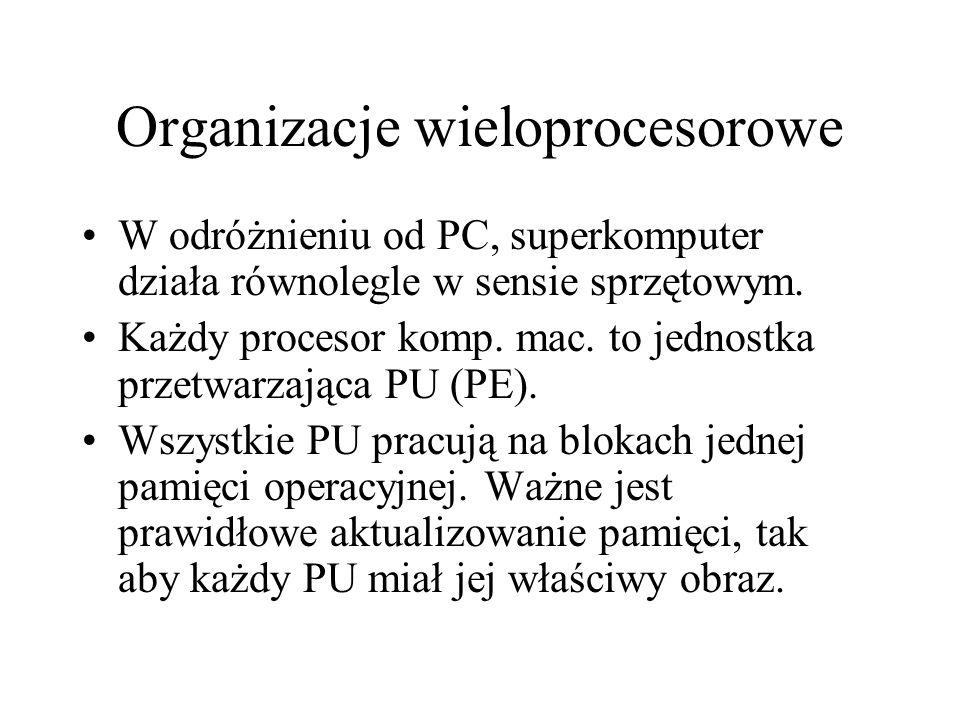 Organizacje wieloprocesorowe