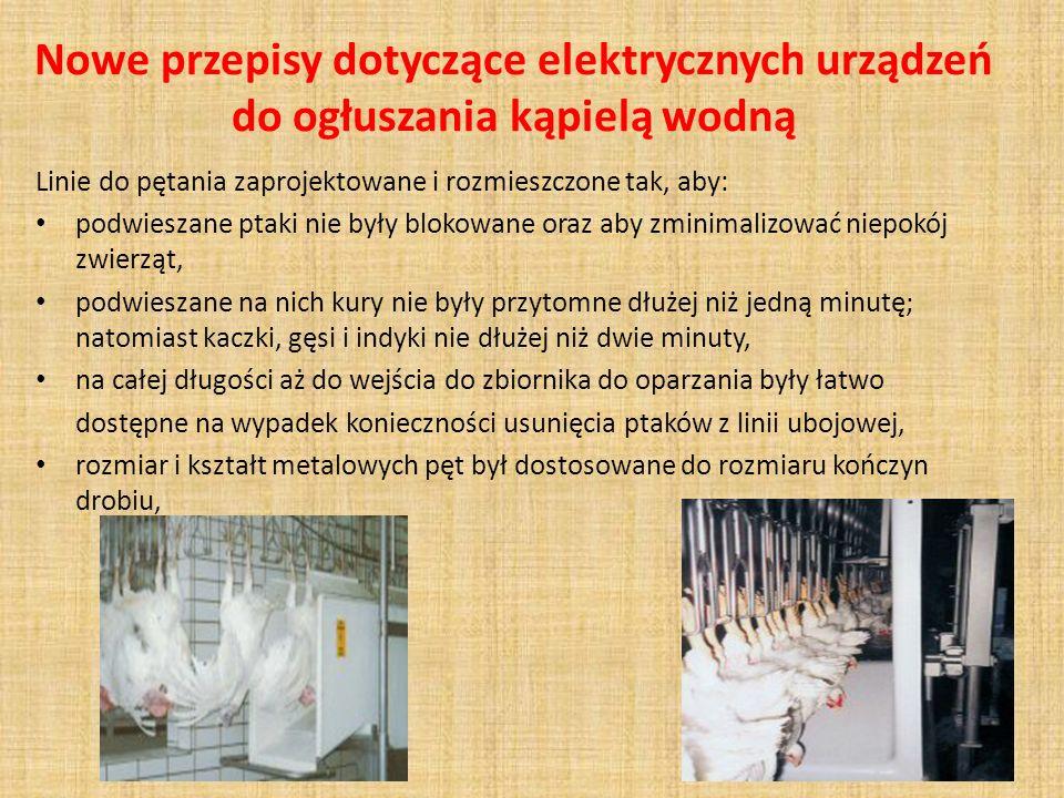 Nowe przepisy dotyczące elektrycznych urządzeń do ogłuszania kąpielą wodną