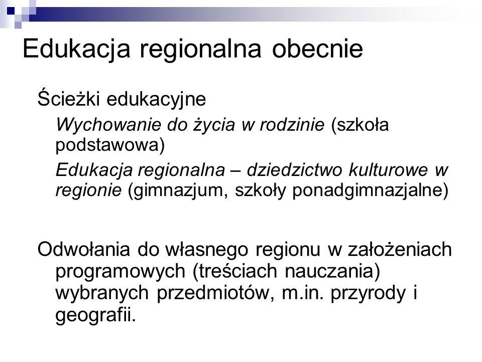 Edukacja regionalna obecnie