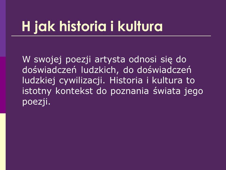 H jak historia i kultura
