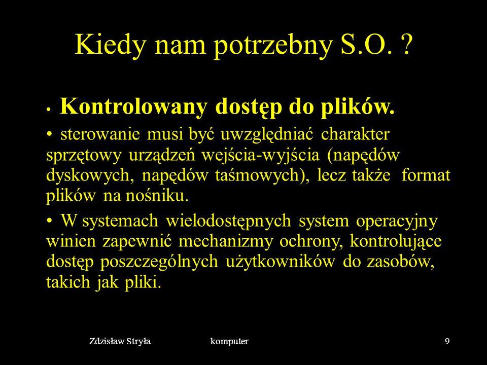 Zdzisław Stryła komputer