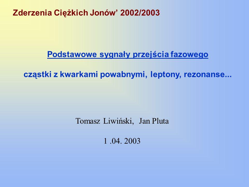 Zderzenia Ciężkich Jonów' 2002/2003