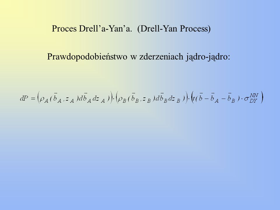 Proces Drell'a-Yan'a. (Drell-Yan Process)