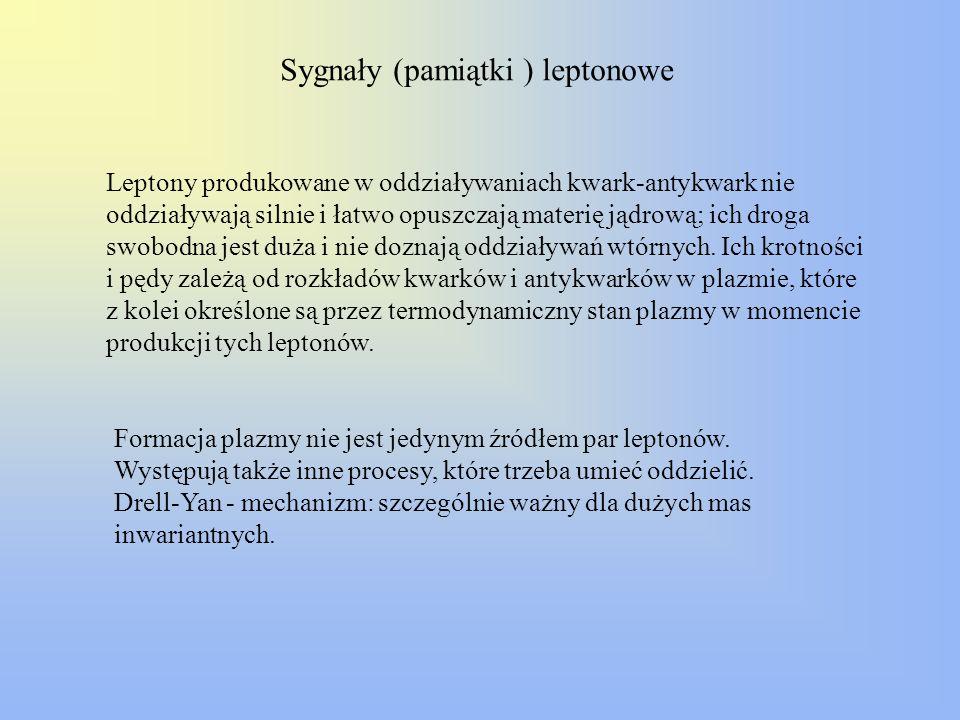 Sygnały (pamiątki ) leptonowe