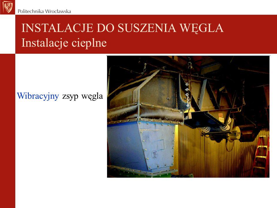 INSTALACJE DO SUSZENIA WĘGLA Instalacje cieplne
