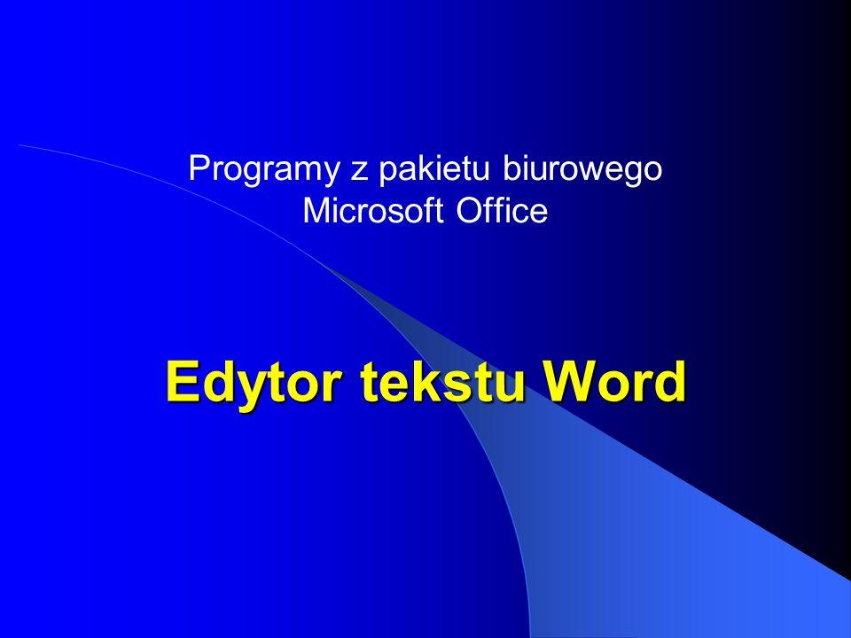 Programy z pakietu biurowego Microsoft Office