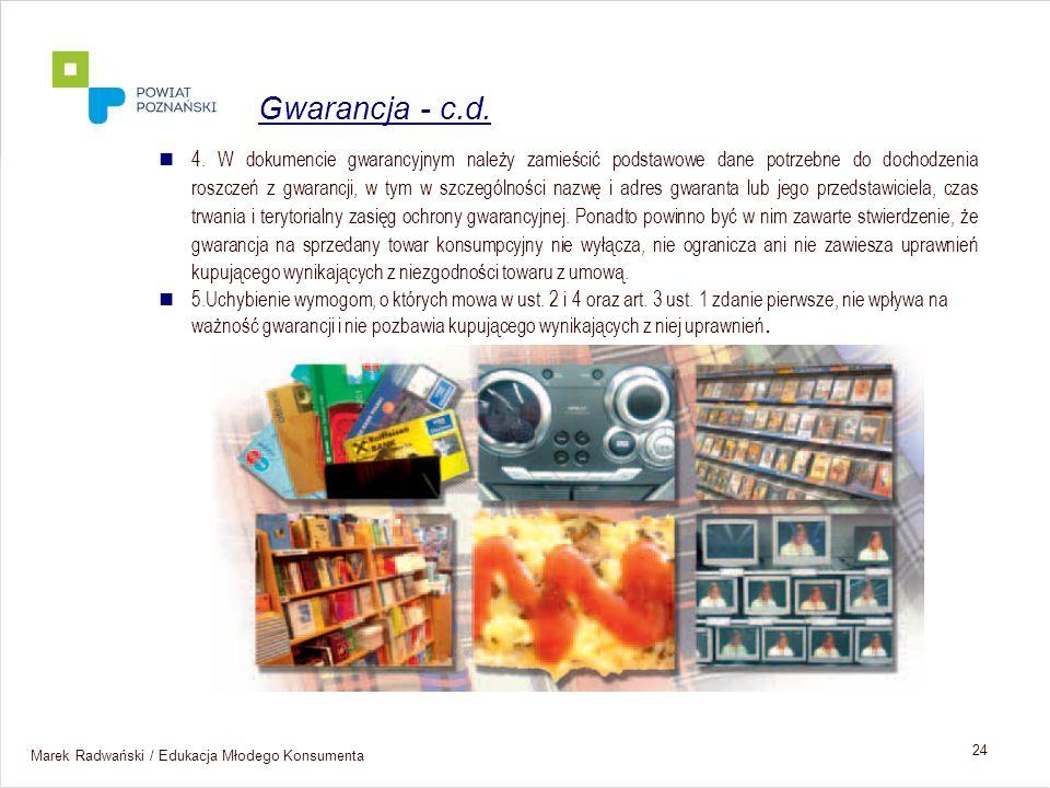 Gwarancja - c.d.
