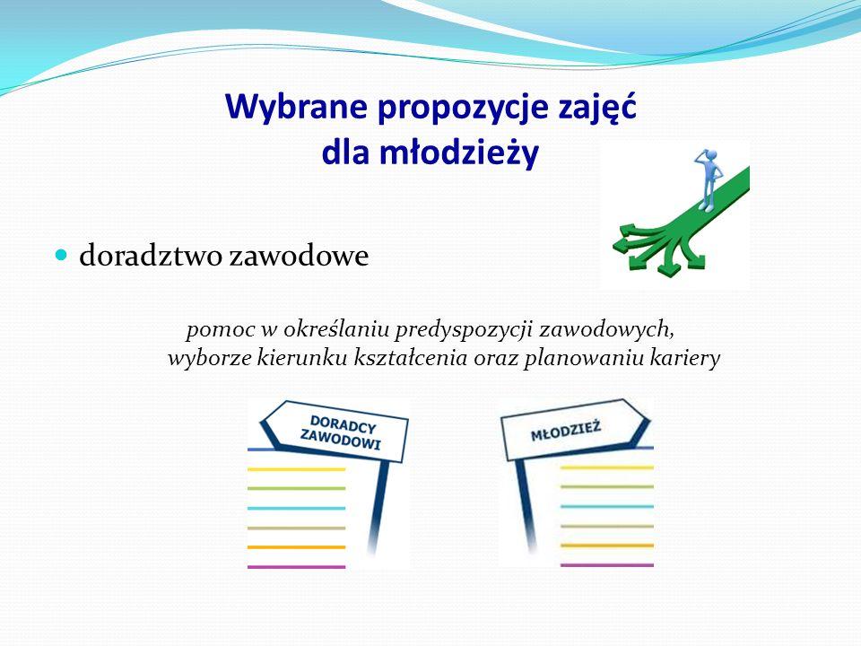 Wybrane propozycje zajęć dla młodzieży