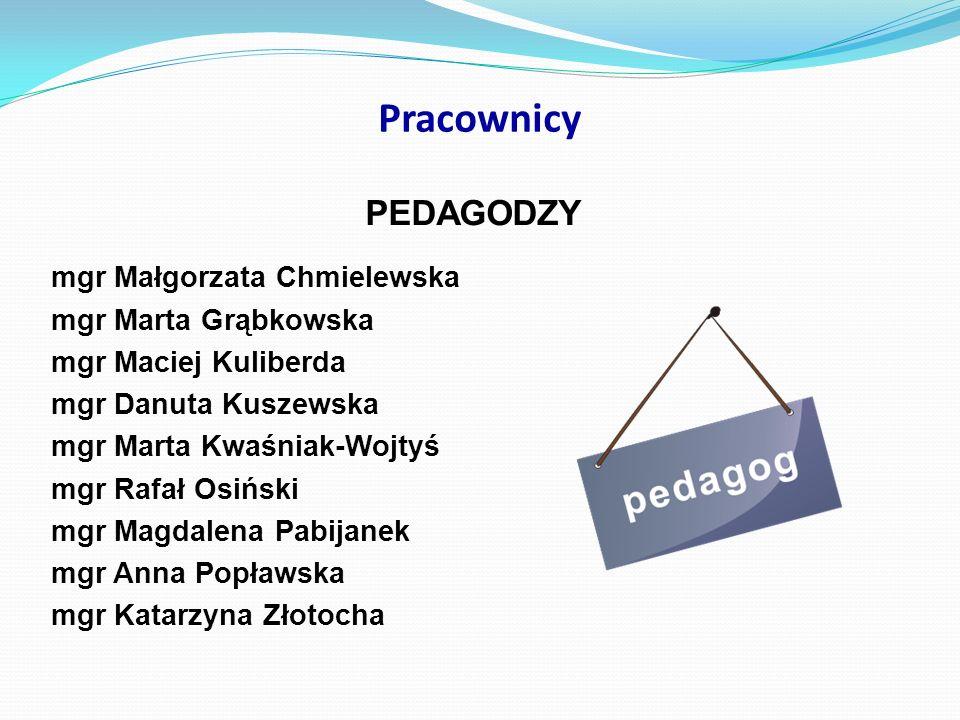 Pracownicy PEDAGODZY mgr Małgorzata Chmielewska mgr Marta Grąbkowska