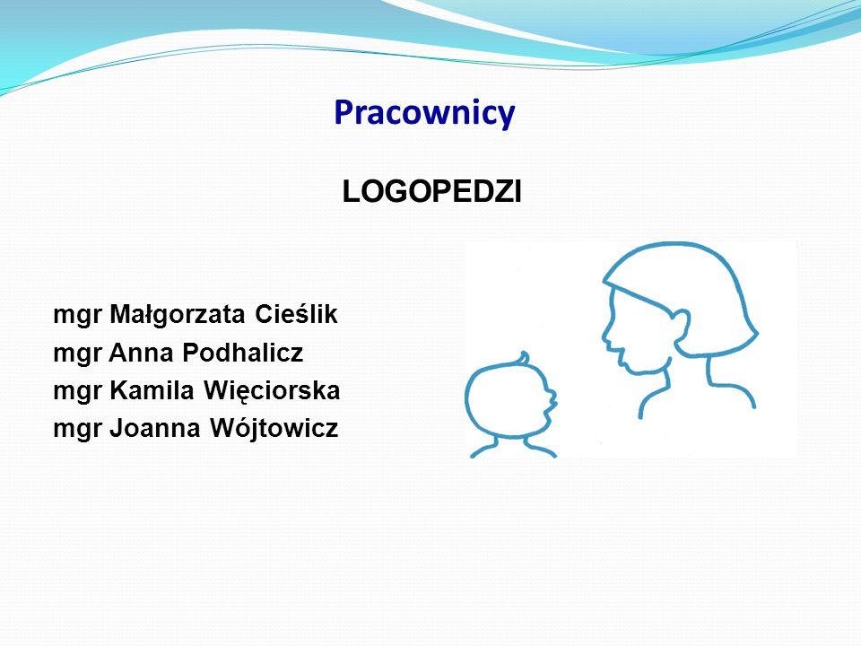 Pracownicy LOGOPEDZI mgr Małgorzata Cieślik mgr Anna Podhalicz