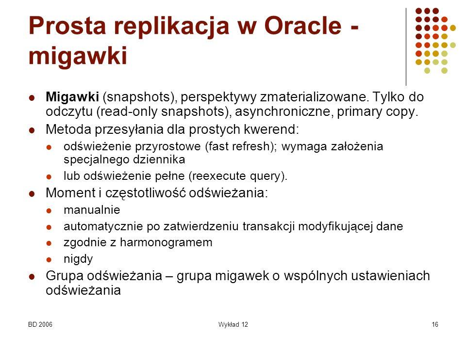Prosta replikacja w Oracle - migawki