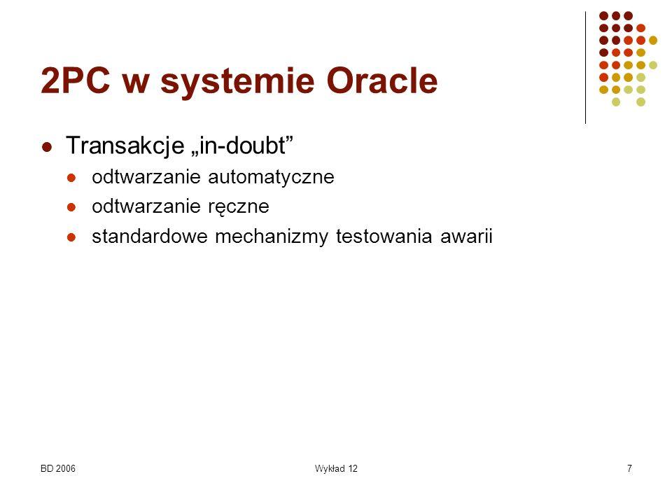 """2PC w systemie Oracle Transakcje """"in-doubt odtwarzanie automatyczne"""