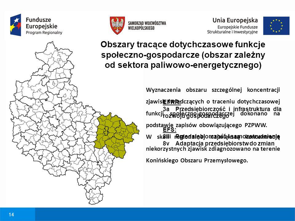 Obszary tracące dotychczasowe funkcje społeczno-gospodarcze (obszar zależny od sektora paliwowo-energetycznego)