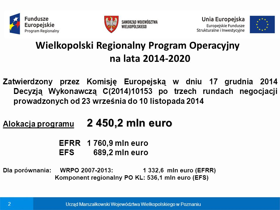 Wielkopolski Regionalny Program Operacyjny na lata 2014-2020