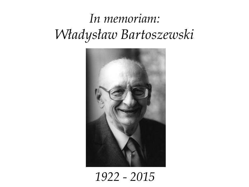 In memoriam: Władysław Bartoszewski
