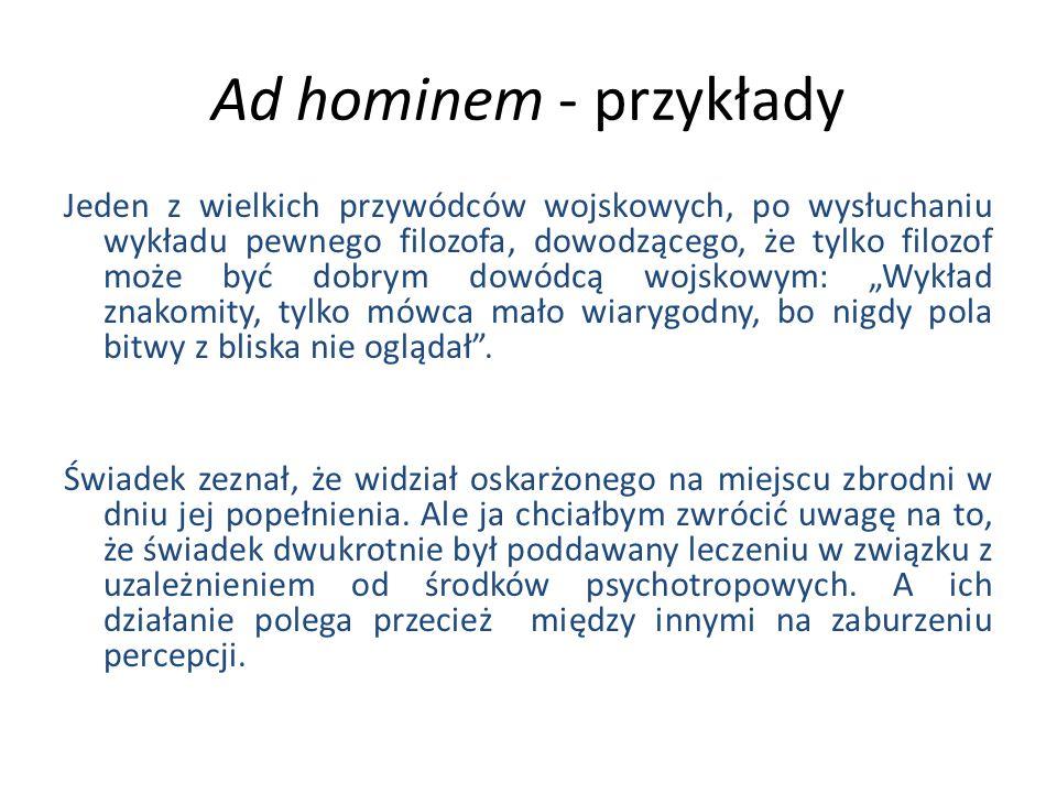 Ad hominem - przykłady