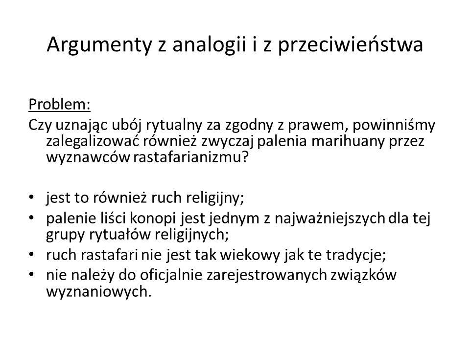 Argumenty z analogii i z przeciwieństwa