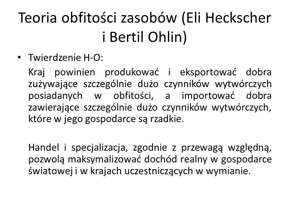 Teoria obfitości zasobów (Eli Heckscher i Bertil Ohlin)