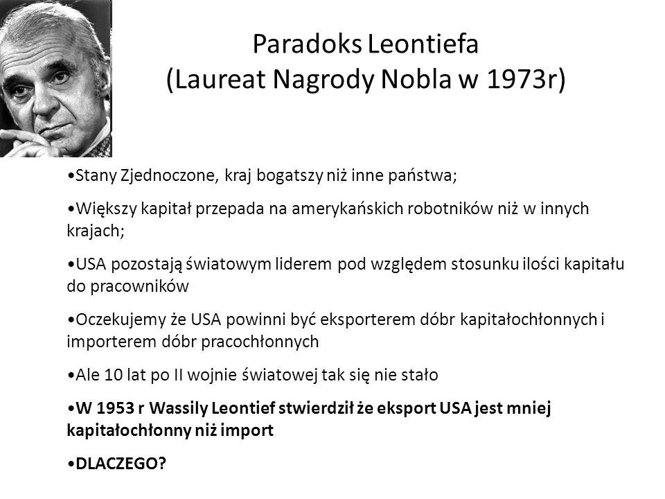 Paradoks Leontiefa (Laureat Nagrody Nobla w 1973r)