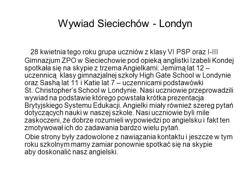 Wywiad Sieciechów - Londyn