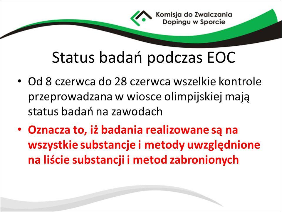 Status badań podczas EOC