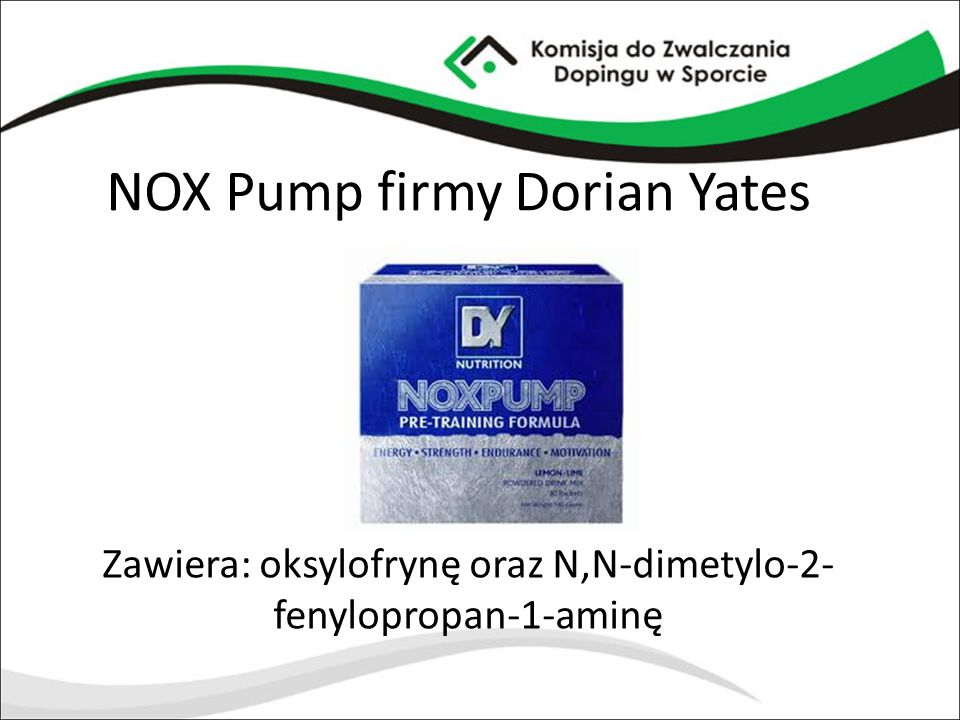 NOX Pump firmy Dorian Yates