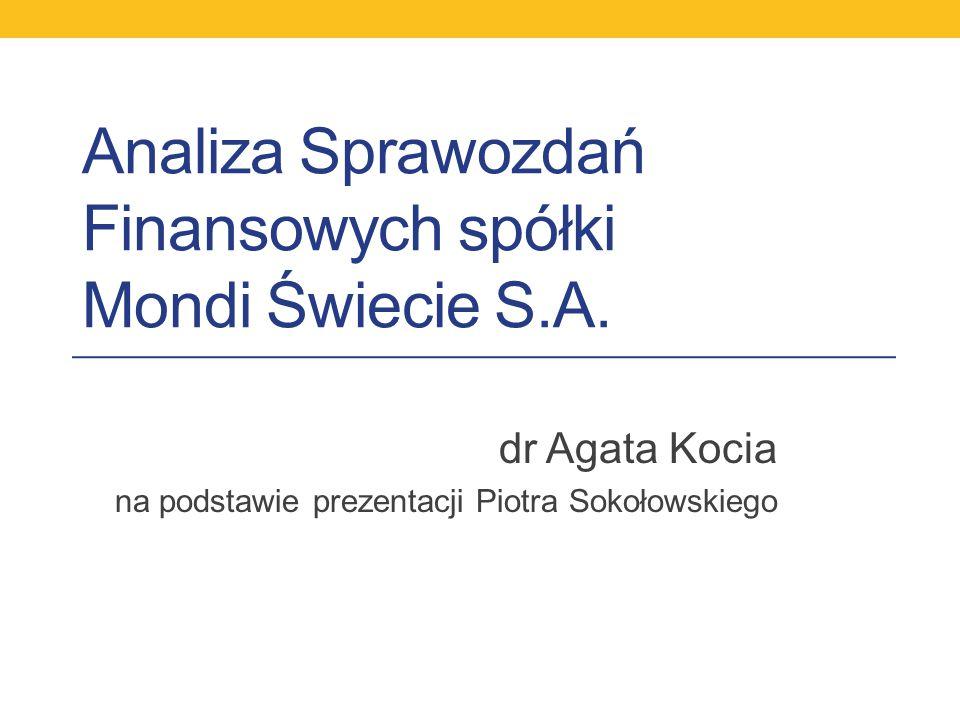 Analiza Sprawozdań Finansowych spółki Mondi Świecie S.A.