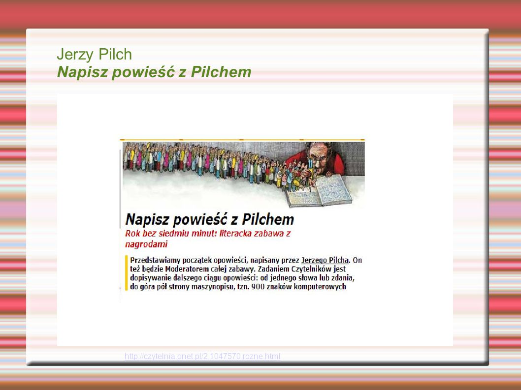 Napisz powieść z Pilchem