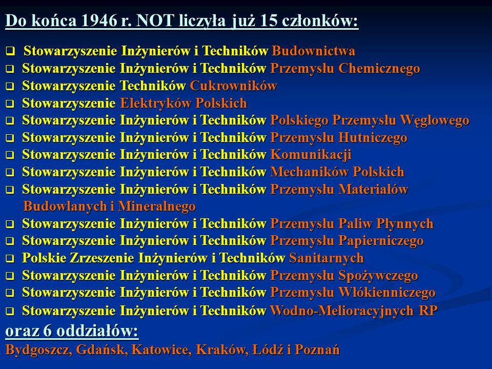 Do końca 1946 r. NOT liczyła już 15 członków: