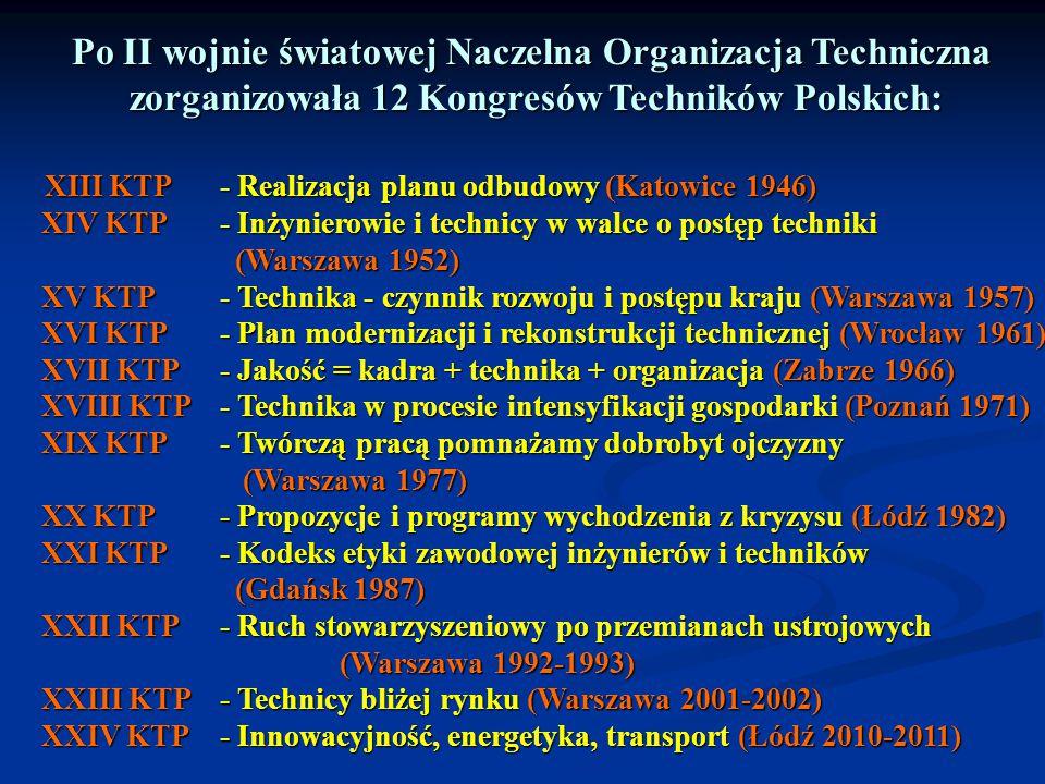 Po II wojnie światowej Naczelna Organizacja Techniczna